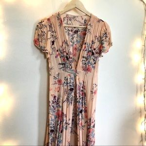 Intimately FP Floral Maxi Open Front Dress